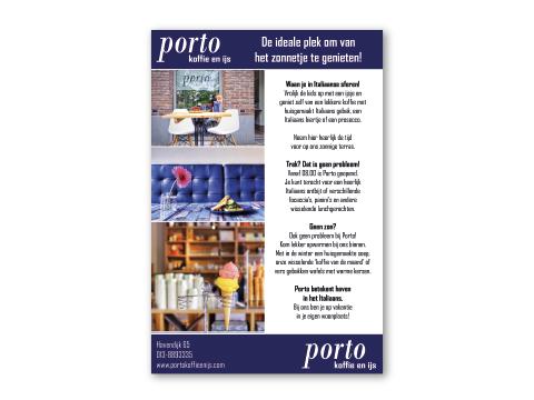 Berucht-Ontwerp-Advertentie Porto koffie en ijs