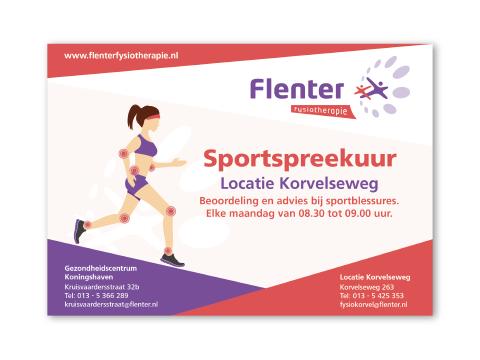 Berucht-Ontwerp-Flenter Fysio flyer A5